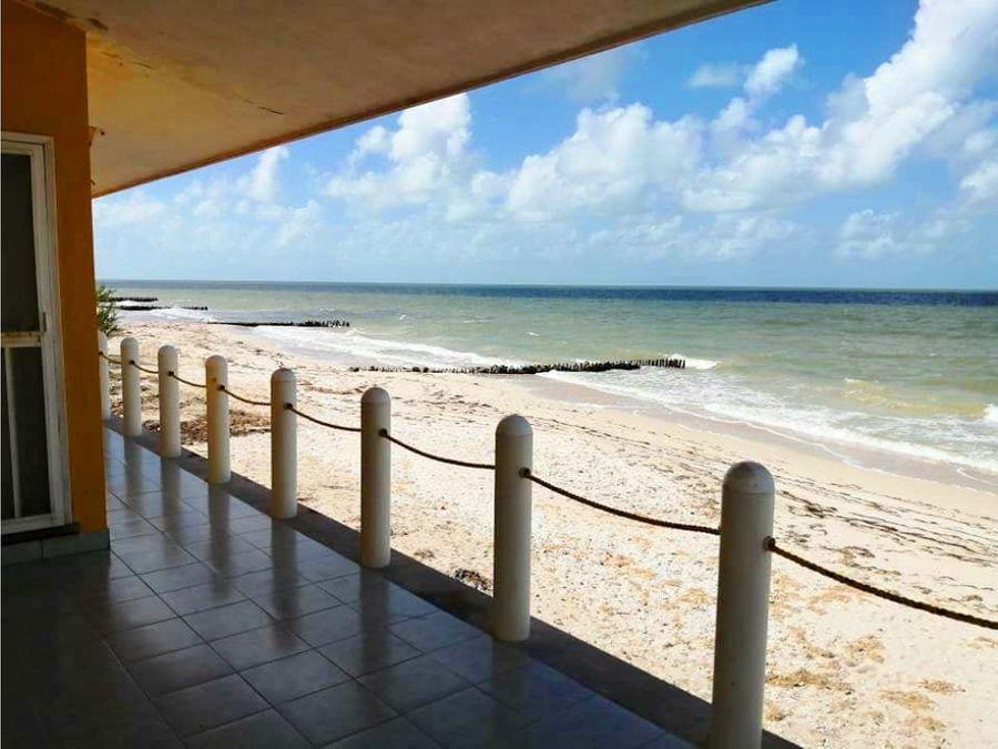casa frente al mar increible tamano del lote en chelem yucatan