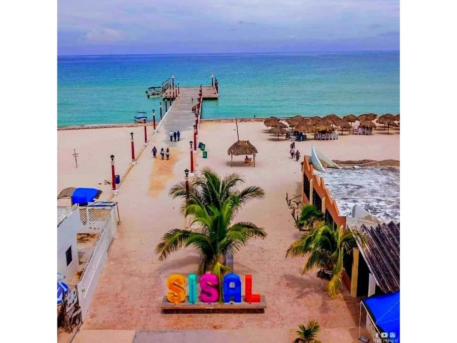 terreno frente al mar en priv maramar sisal yucatan