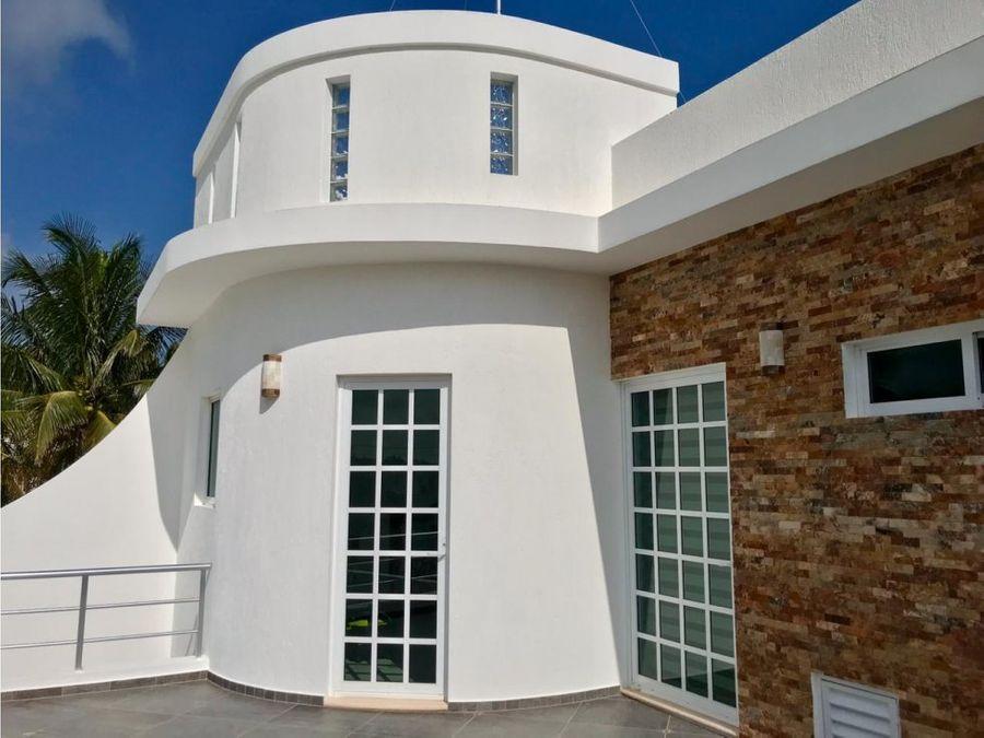 lujosa casa amueblada frente al mar de telchac