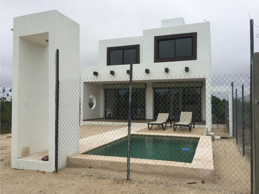 casa de 2 pisos chicxulub progreso yucatan