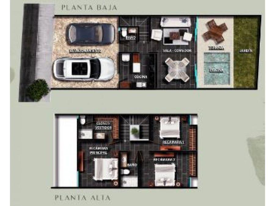 casa de dos pisos tipo townhouse en privada norva