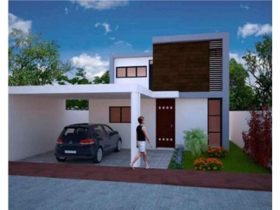 casa en privada avenida conkal lote 37