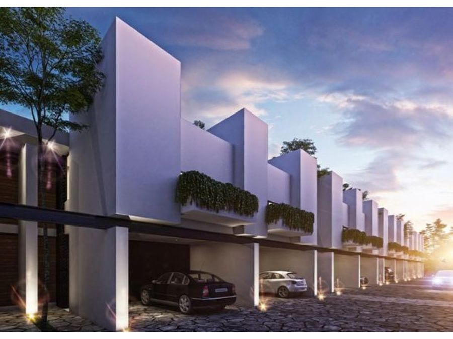 town houses en privada temozon 21