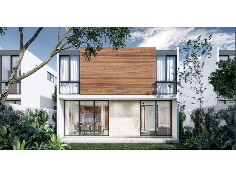 fiora residencial casa de 4 recamaras modelo lily cholul