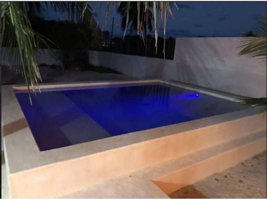 casa beige de 1 piso en chicxulub puerto yucatan