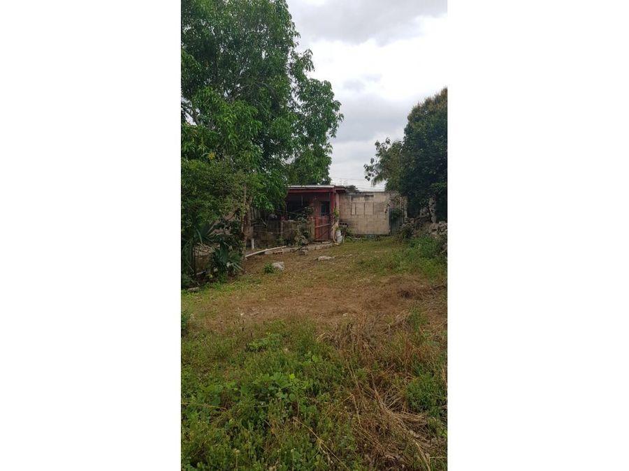 terreno con casa en venta en merida yucatan vergel