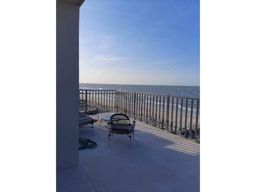 casa frente al mar con terraza en chelem progreso yucatan