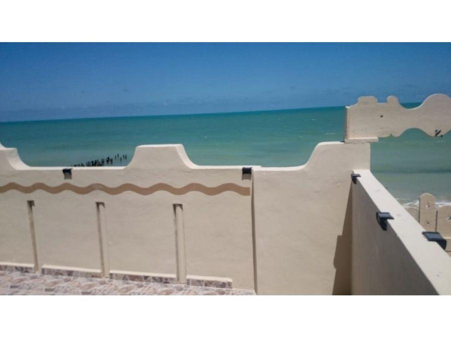 bella casa en chelem a orilla de la playa