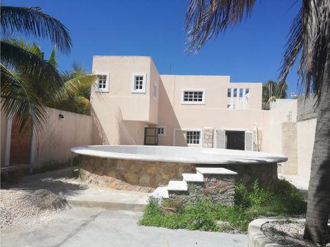 casa caracol 2da fila al mar con piscina en chicxulub yucatan