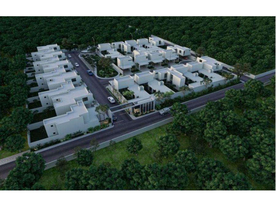 casas maranta en residencial savara en conkal un piso