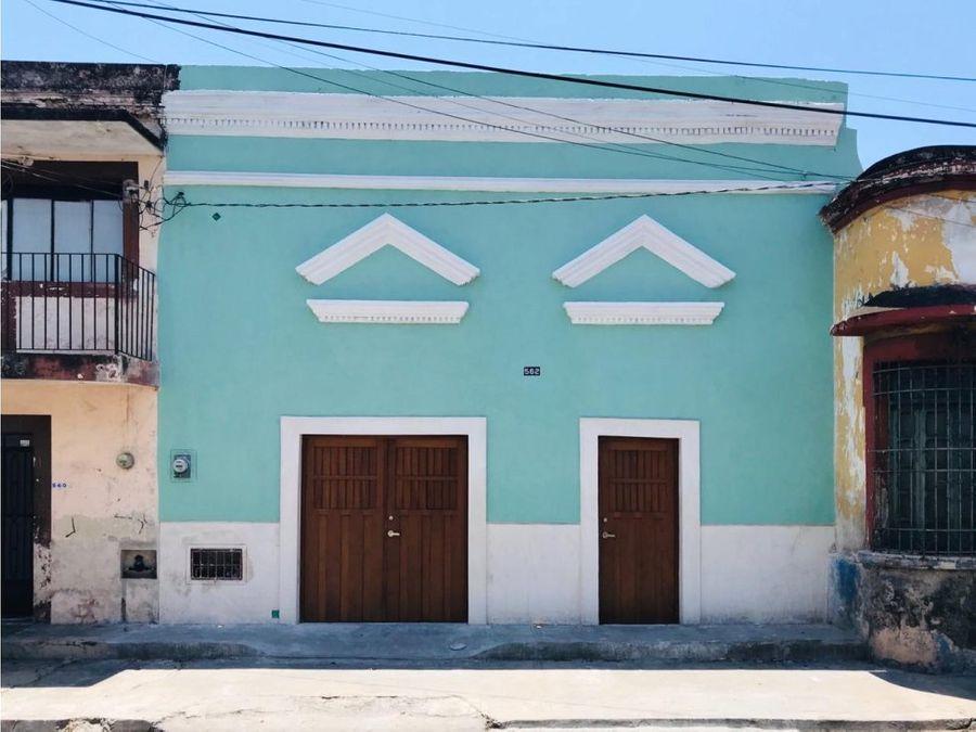 hermosa y renovada residencia barreto 562 en el centro de merida