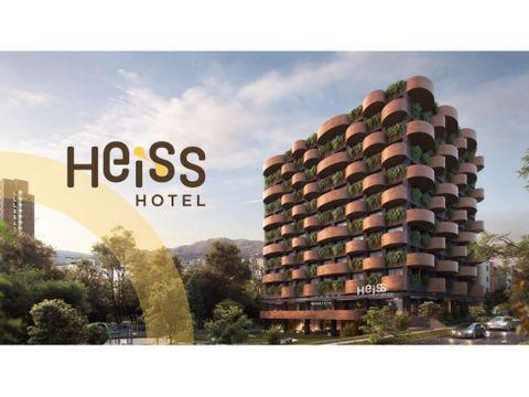 suites en venta hotel heiss en poblado medellin