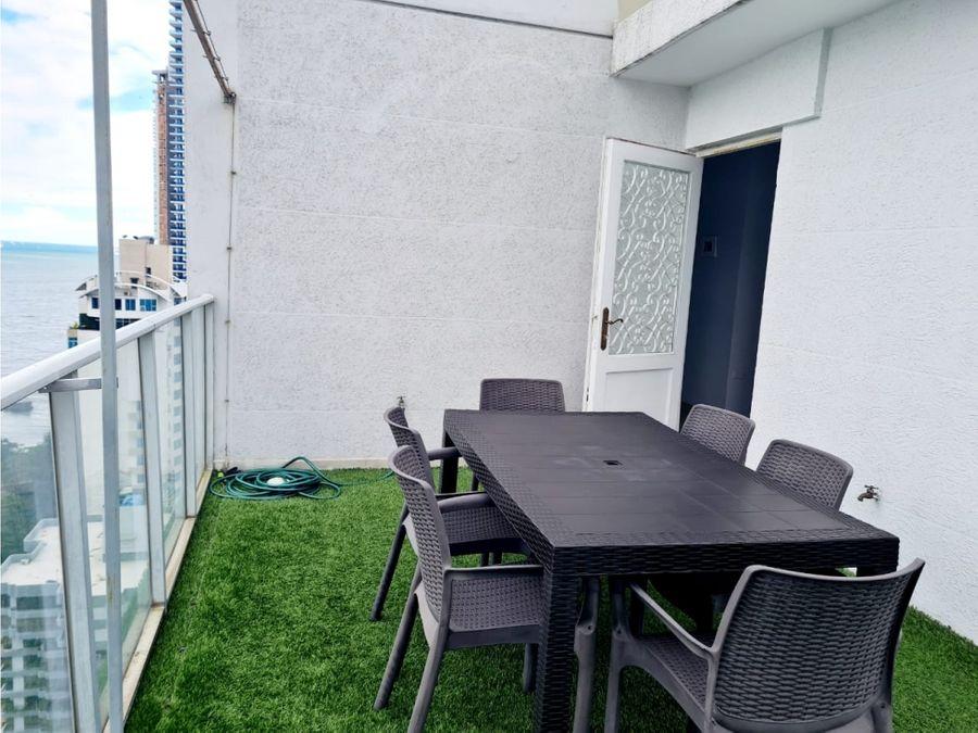 penthouse en pacific sun amoblado renovado