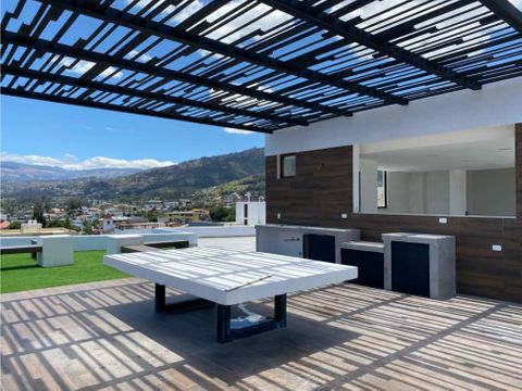 de venta lujoso departamento 2 habitaciones a estrenar en cumbaya