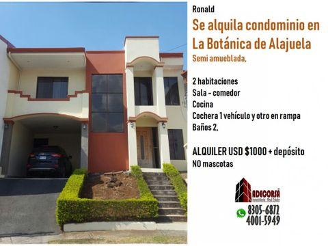 casa en condominio botanica en alajuela