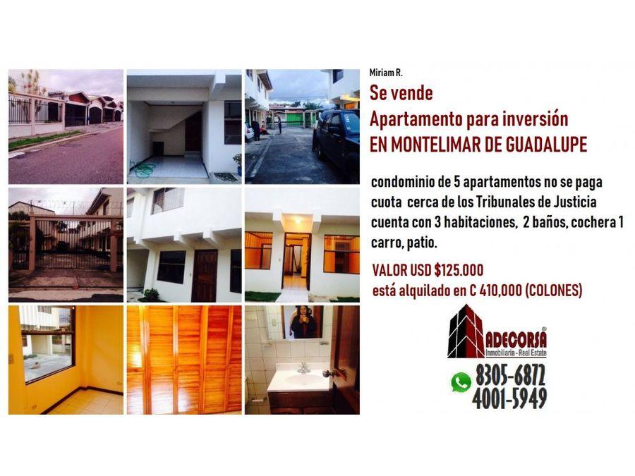 apartamento en condominio montelimar de guadalupe