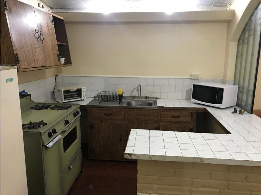 alquiler de apartamento amueblado en bo escalante