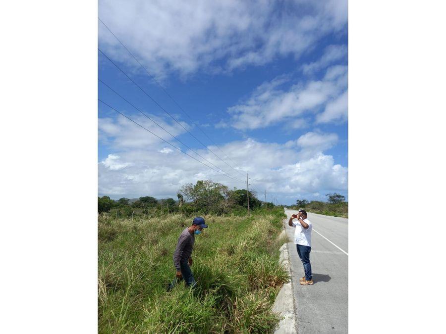 terreno carretera uvero alto miches 6280 m2 canada honda nisibon