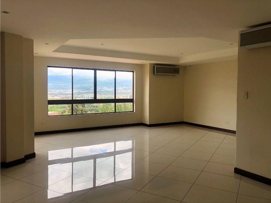 apartamento en escazu espectacular vista v0168