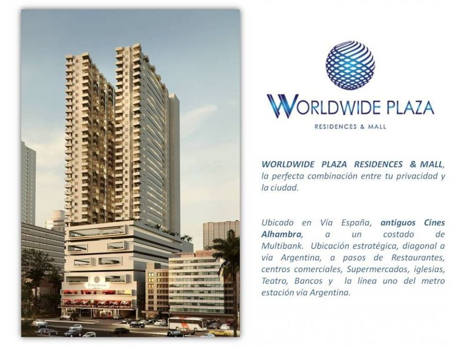 vendo apto desde 125mil worldwide plaza obarrio