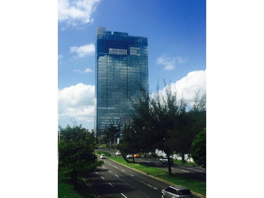 alquilo oficina en 500 vista al mar torre boc ave balboa