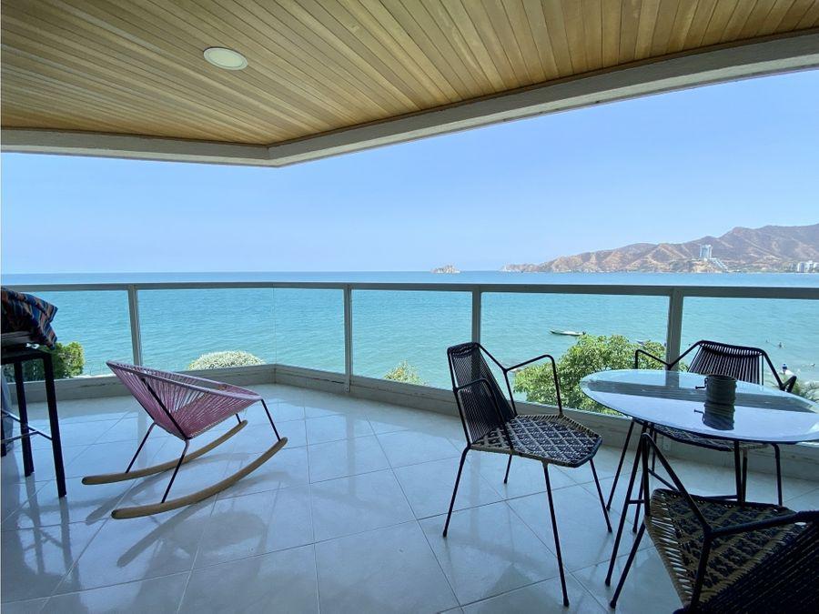 venta de apartamento frente al mar en rodadero sur santa marta