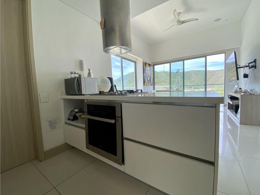 se vende apartamento de 1 habitacion en playa salguero santa marta