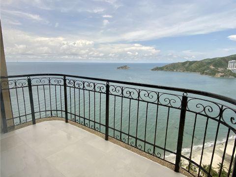venta apartamento en el penon frente al mar rodadero sur santa marta