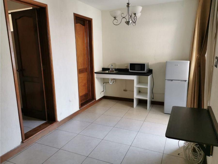 apartamento tipo estudio en renta zona 15