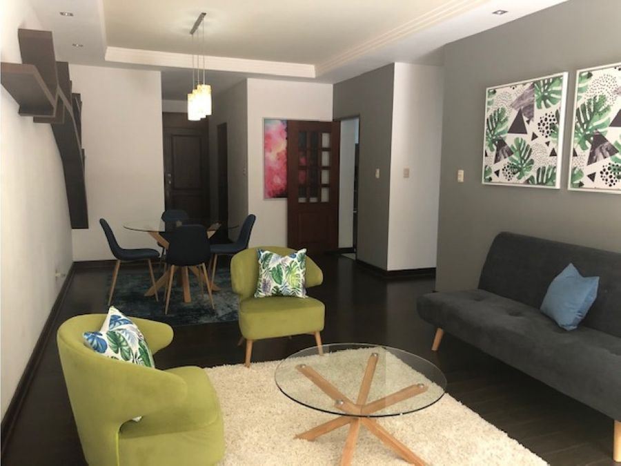 rento apartamento amueblado y equipado zona 10