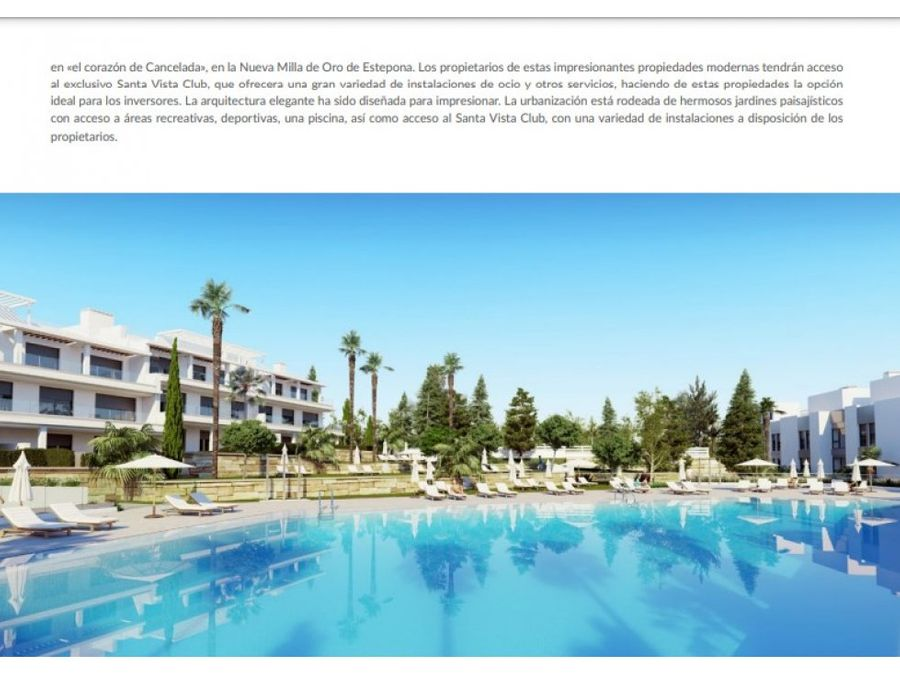 exclusivo residencial con gran variedad de instalaciones de ocio