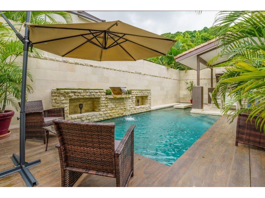 vendo elegante casa con piscina en nativa panama pacifico