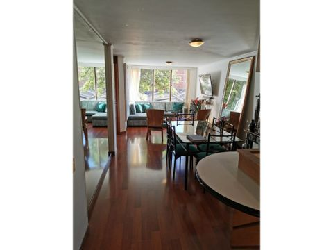 hermoso apartamento interior iluminado en chapinero alto