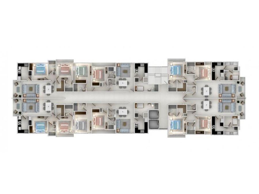 moderna torre con apartamentos de 2 hab en naco