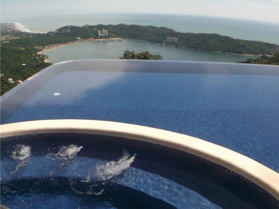 las cascadas villas cima residencial vista espectacular renta