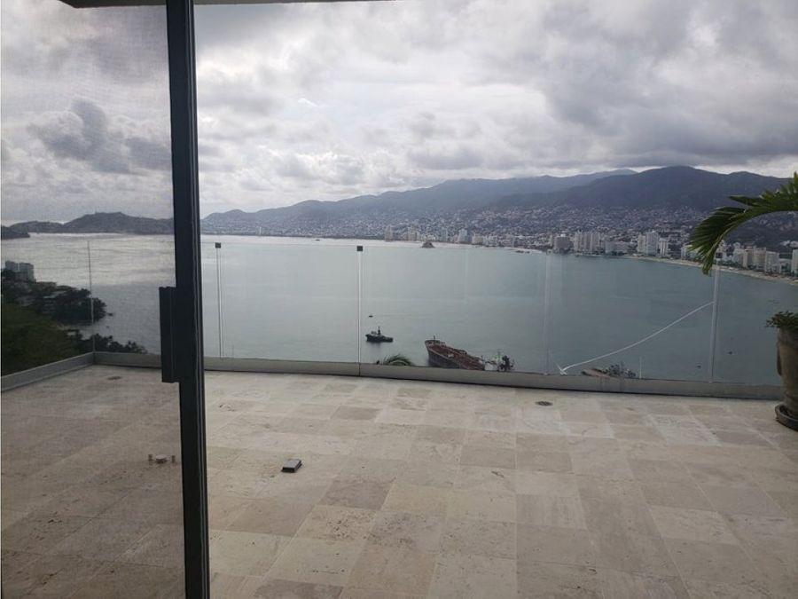 departamento espectacular vista a la bahia ciudad alberca 500m2