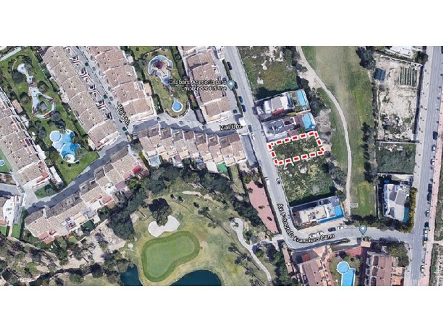 terreno alicante golf