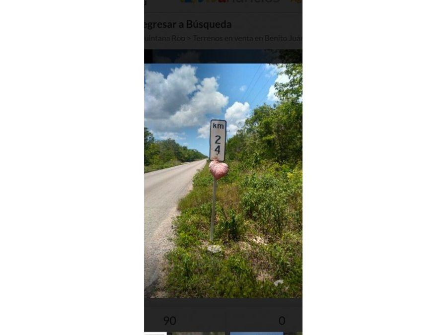 venta terreno 1h ruta de los cenotes km24