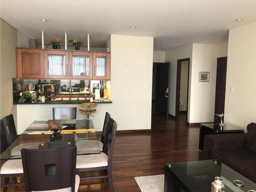 full amueblado de 1 dormitorio con balcon en nivel alto zona 14