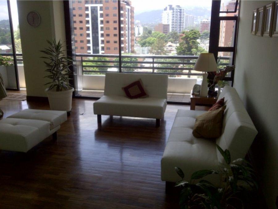 elegante piso amueblado en nivel medio zona 10