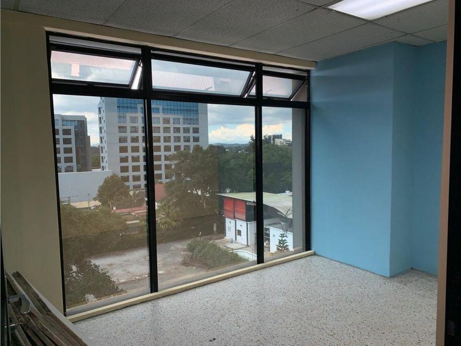 oficina tabicada sobre la avenida reforma zona 9