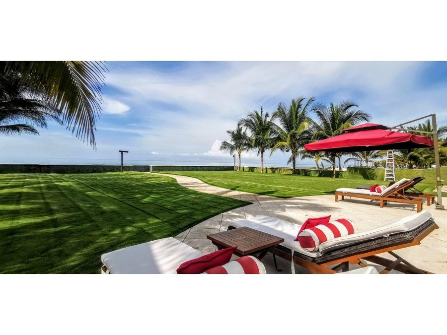 hermosa casa frente al mar con playa exclusiva