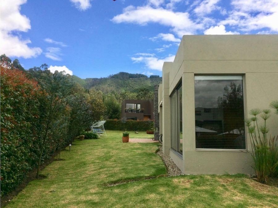 se vende casa en condominio campestre kubik verde sopo