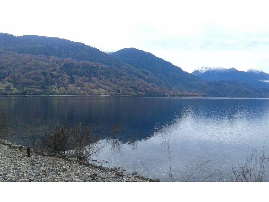 hermoso terreno con orilla de lago maihue