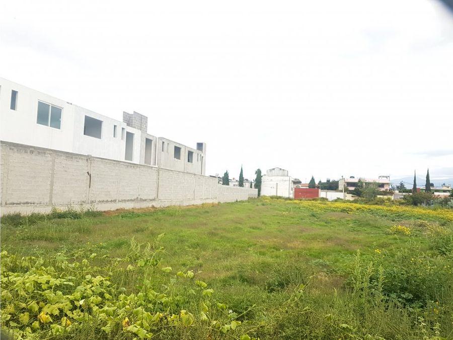 venta de terreno en zona habitacional chalco mexico