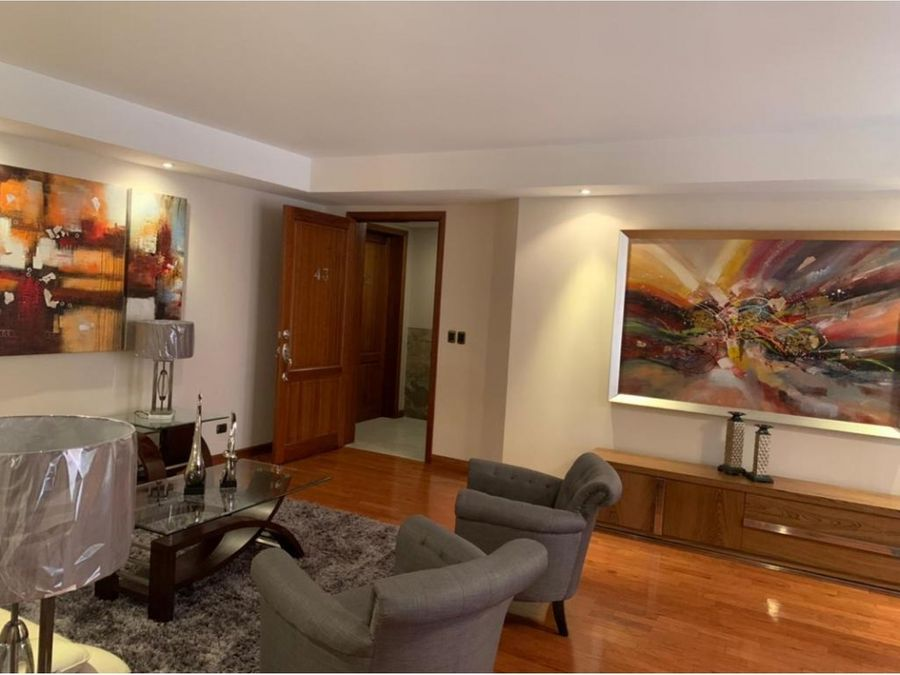 apartamento amueblado zona 14 excelente ubicacion