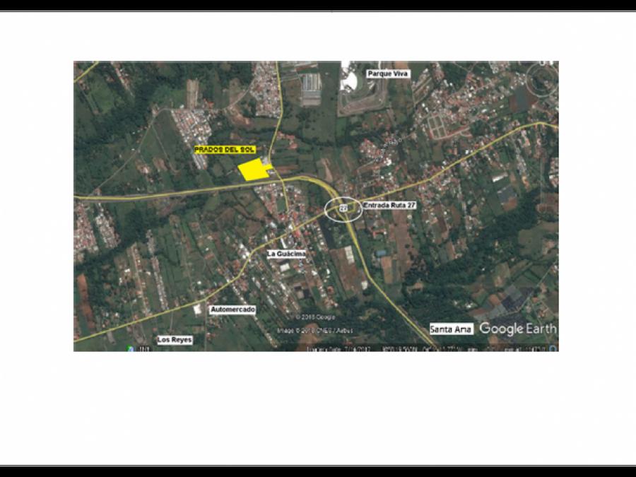 se vende terreno en la guacima con proyecto residencial pre aprobado