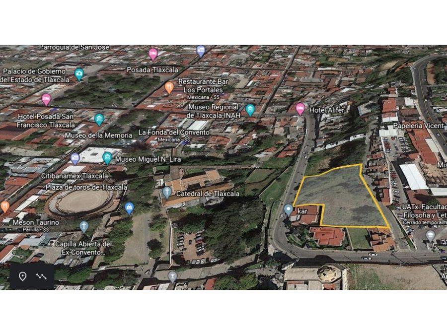 terreno en tlaxcala centro ideal para comercio 3971 m2
