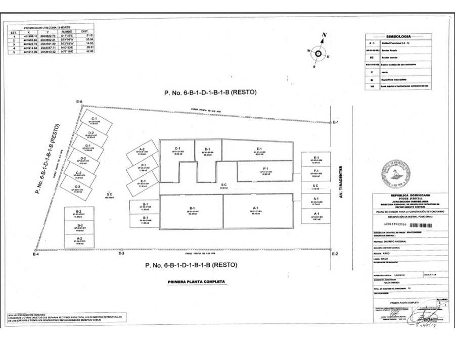 vendo solar de 1064 mts2 en naco incluye pequena plaza