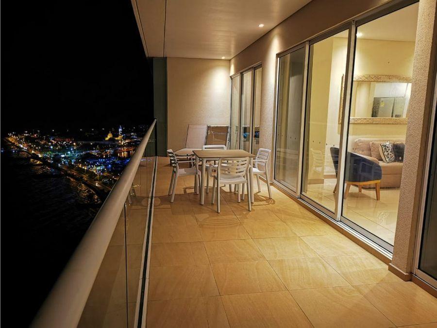 apartamento en bocagrande frente al mar